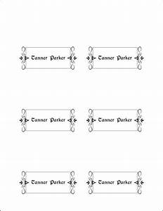 10 best images of place card template printable With place card printing template