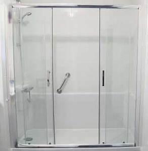 cabine de douche porte coulissante 2 vantaux 160cm 170cm With porte coulissante douche sur mesure