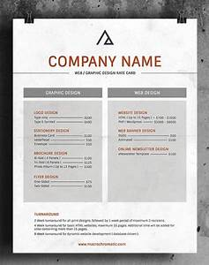 rate card templates word templates docs With rate sheets templates