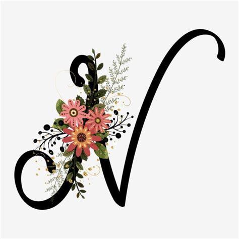 alphabet letter   flowers vintage en  fotos de letras letra