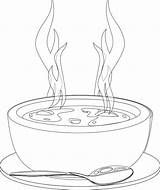 Soup Coloring Clipart Bowl Warms Webstockreview Kidsdrawing Ikidsdrawing sketch template