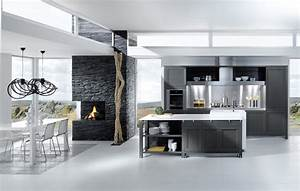 Grey white kitchen design stylehomesnet for Gray and white kitchen designs