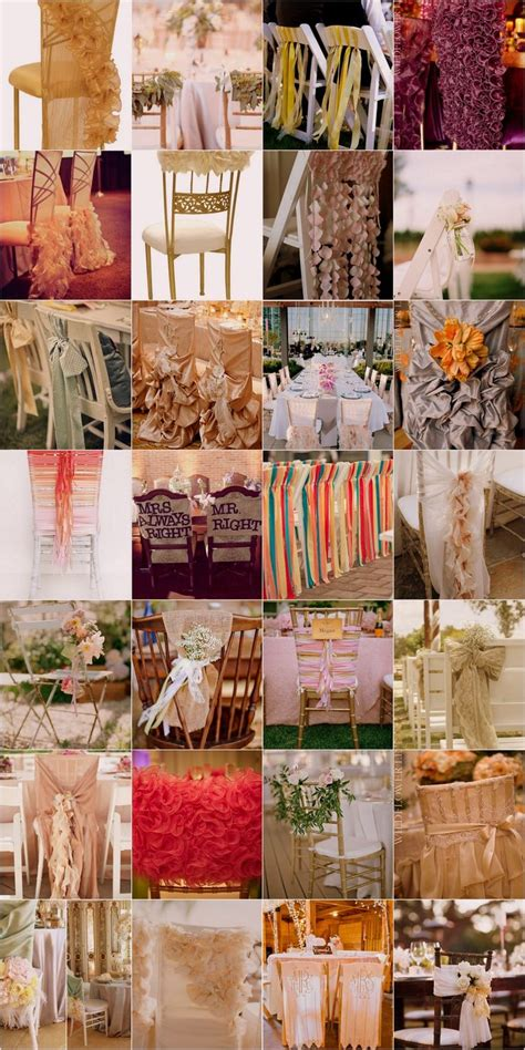 Chair Swag And Wedding Chair Decoration Ideas The Ribbon