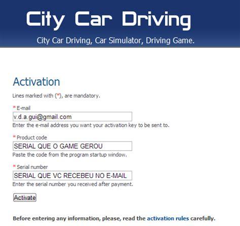 City Car Driving Simulator Serial Number Sfb