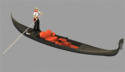 Gondola Boat Man by Gondola Boat Boatman 3d Model