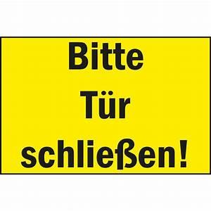 Bitte Türe Schließen : hinweisschild 250 x 150 mm bitte t r schlie en kunststoff gelb schwarz ~ Orissabook.com Haus und Dekorationen