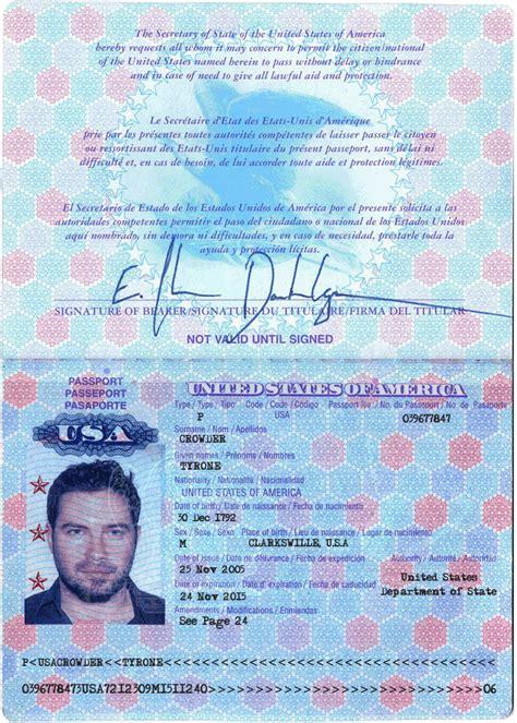 usa passport template psd images blank passport