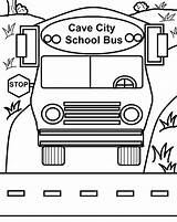 Bus Coloring Pages Printable Caveman Cave Bestcoloringpagesforkids sketch template