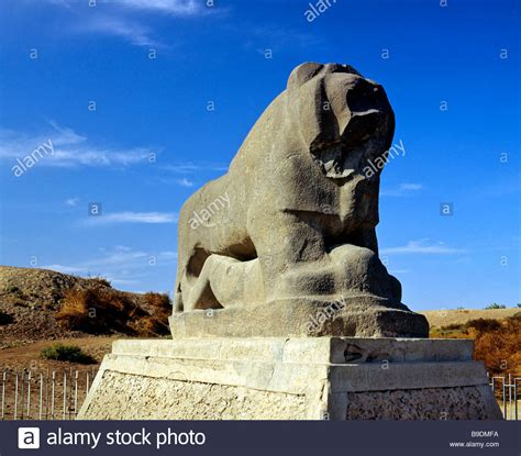 Lion Of Babylon Statue Babil Province Iraq Middle East