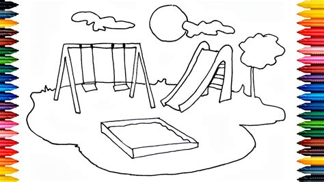 drawing playground outdoor   draw playground