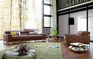 Braunes Sofa Welche Wandfarbe : living room inspiration 120 modern sofas by roche bobois ~ Watch28wear.com Haus und Dekorationen