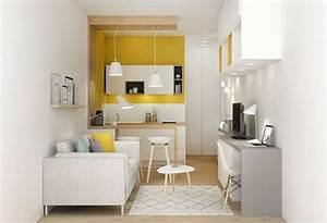 Petite surface amenagement studio renovation for Good meuble cuisine pour studio 7 deco studio 18m2