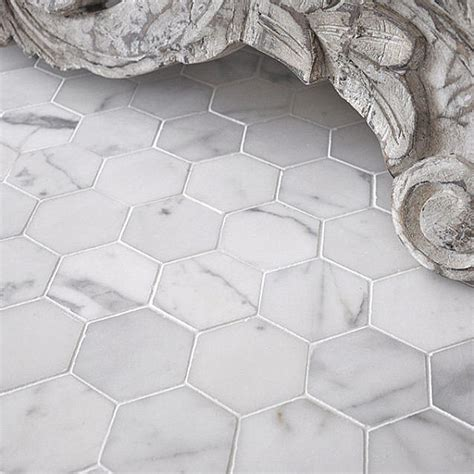 2 Hexagon Marble Floor Tile by Tile Floor Design Ideas