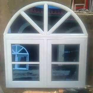 aluminum casement window wit fixed arc  alimosho windows ayo nicolas nigeria enterprises