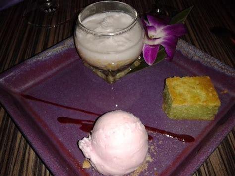 dessert au lait de riz desserts riz au lait de coco glace 224 la g 226 teau de manioc picture of baan kanya