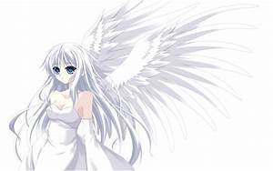 Silver haired angel Full HD Wallpaper and Background Image ...