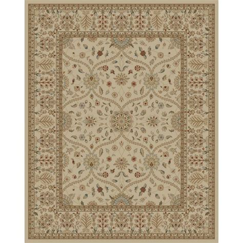 rugs at lowes shop style selections hangsinger ivory rectangular indoor machine made oriental area rug common