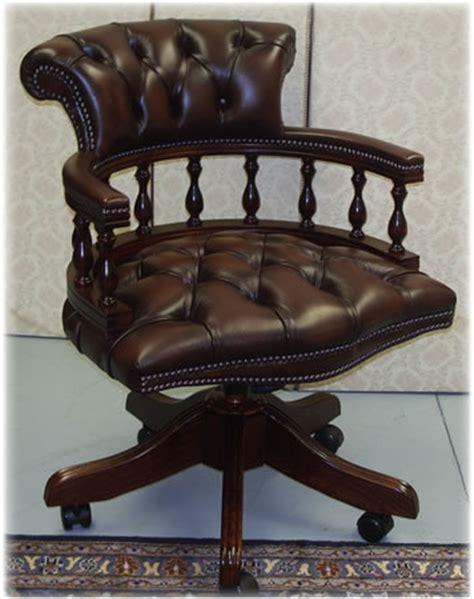 chestnut brown captains swivel desk chair picture a1