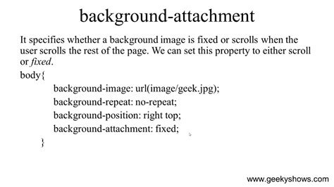 Background Attachment Css Background Attachment Property In Css