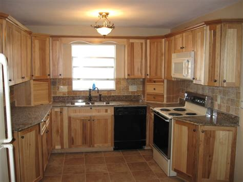 inexpensive counter tops hickory kitchen cabinets characteristic materials