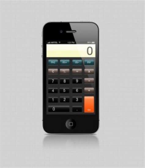 iphone calculator iphone calculator psd file free