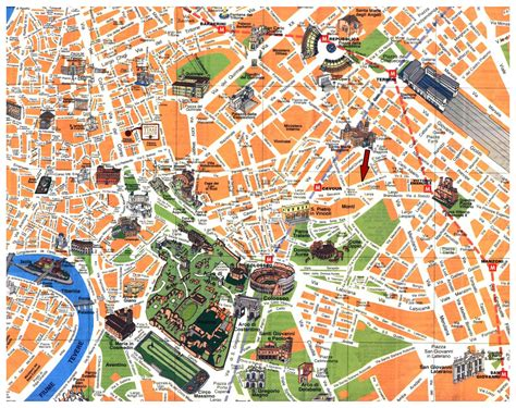 maps  rome detailed map  rome  english maps