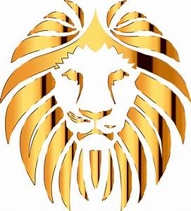 Clipart - Golden Lion 4 No Background