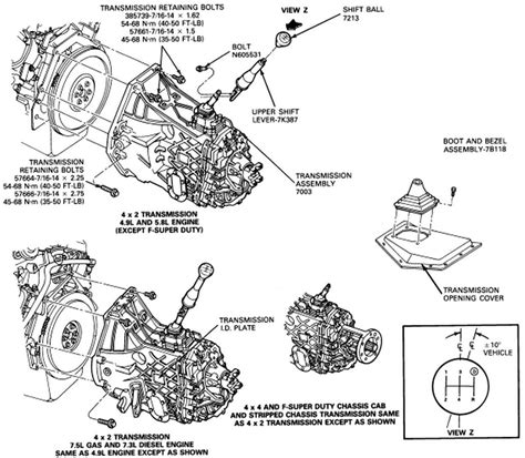 Removal Gear Shift Manual Transmission