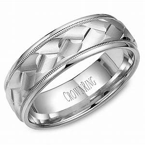 crown ring wb 9098 m10 mens wedding band With crown ring mens wedding bands