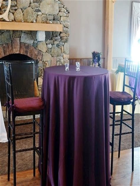 Eggplant Matte Satin ? PS Event Rentals