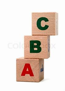 the alphabet letters drawn on wooden cubes a children39s With wooden letter cubes