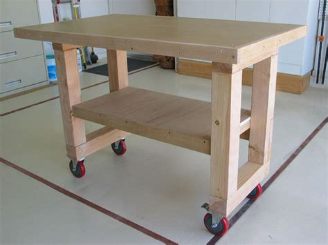 woodwork easy  build workbench  plans