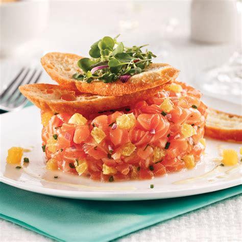 tartare cuisine tartare de saumon à l 39 orange et chips de recettes