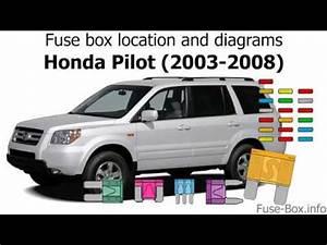 Fuse Box 2005 Honda Pilot : fuse box location and diagrams honda pilot 2003 2008 ~ A.2002-acura-tl-radio.info Haus und Dekorationen
