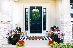 Small, Front, Porch, Decorating, Ideas, For, Summer, -, Colorful, Flowers, In, Planters, For, Summer