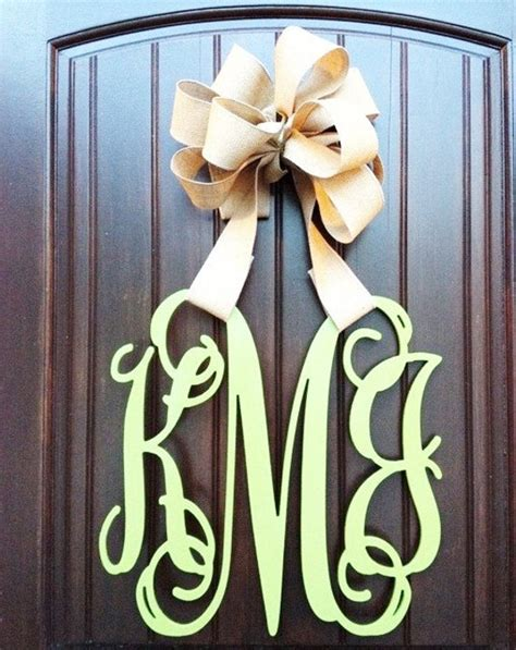 wooden monogram wall letters wedding decor home