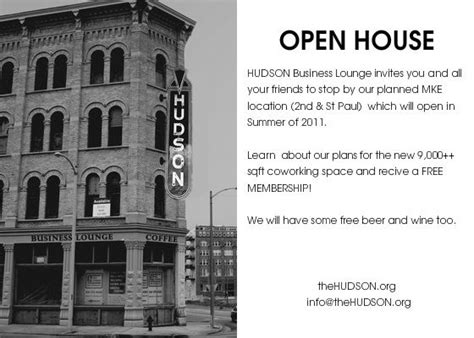 Open House Invitations For Business Templates
