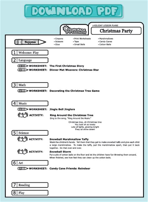 lesson plans 204 | lesson page example christmas party