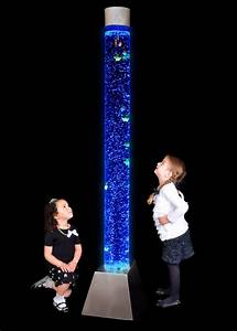 6 ft colour changing led sensory mood bubble water tower for Floor lamp with tube light