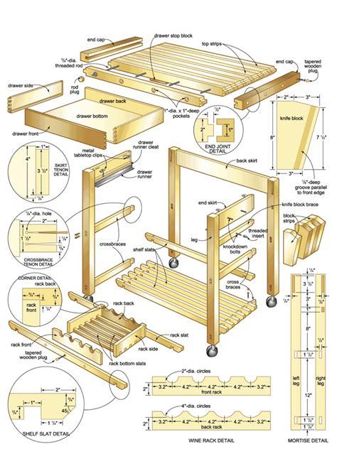 woodworking plans kitchen island plans to build butcher block island cart plans pdf plans