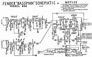 Fender Bassman 6g6 Sch Service Manual Download  Schematics