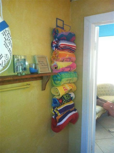 bathroom towel rack ideas awesome pool storage ideas creatively organized