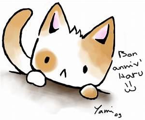 Chibi cat for Haru's birthday by Yami-chama on DeviantArt
