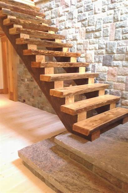 Staircase Cottage Stairs Progress Rustic
