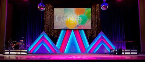 church stage design stacked triangles church stage design ideas