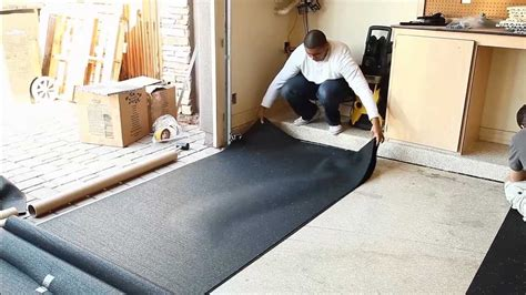 install rubber underlayment youtube