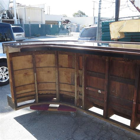 deco front and back bar with stools at 1stdibs