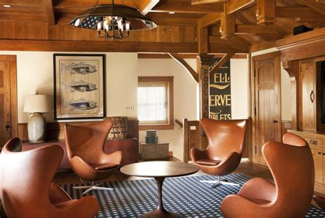Log Cabin Style Meets Ethnic Modern Interior Design by Midcentury Modern Meets Rustic Mariner S Cabin Style In