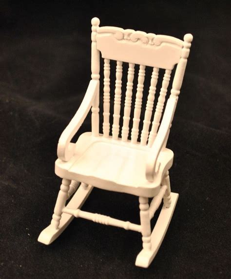 rocking chair white w arms t5061 miniature dollhouse