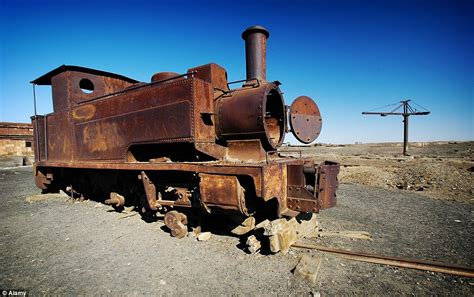 rusty train from boom to dust eerie pictures show northern chile 39 s